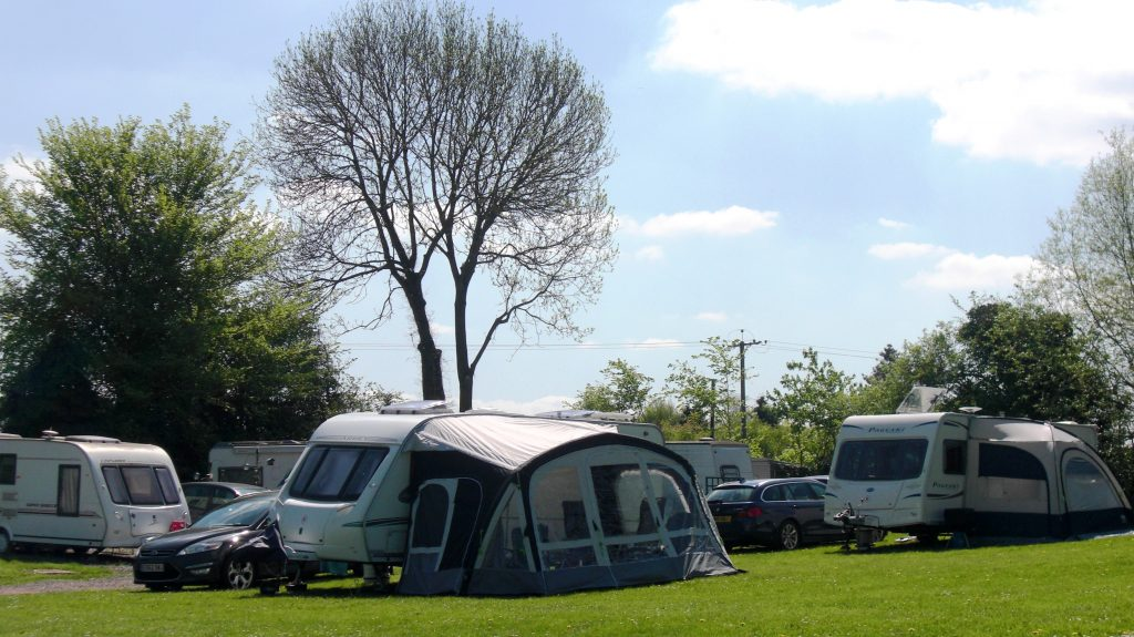 Camping at the Yew Tree
